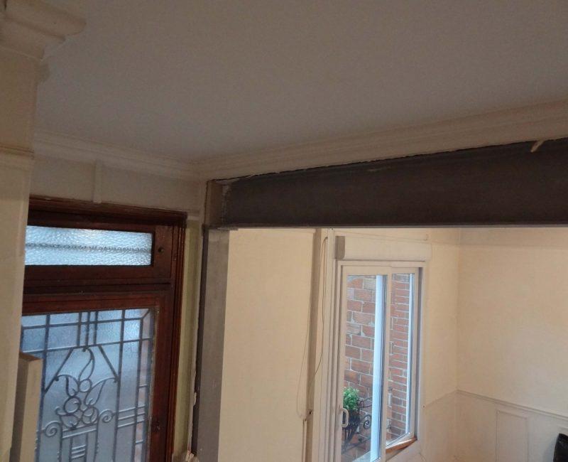 travaux de d pose d 39 un mur porteur. Black Bedroom Furniture Sets. Home Design Ideas
