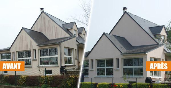 une rénovation de façade avant après